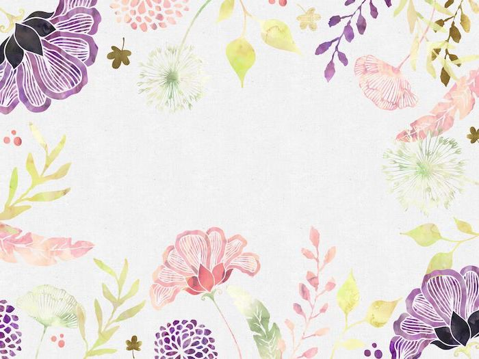 flower background images white background with drawings of purple orange pink flowers