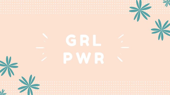 grl pwr written with white letters on orange background cool wallpapers for girls green flower drawings