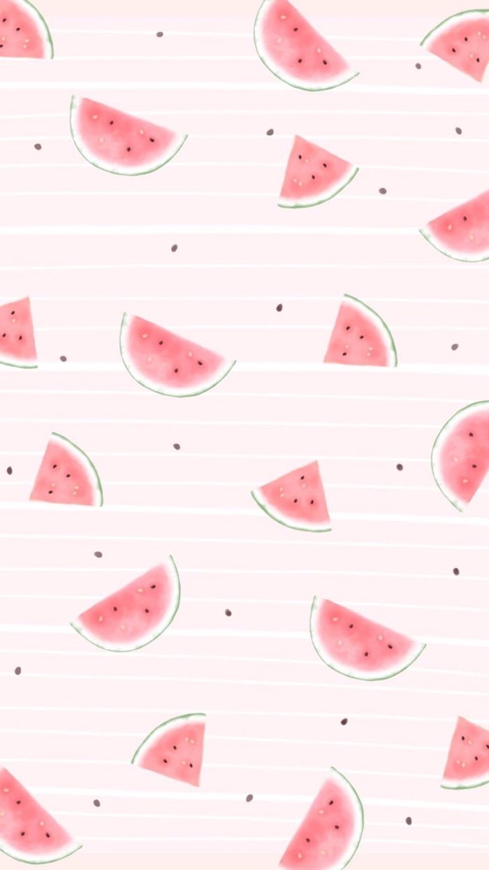light pink background cute wallpapers for computer watercolor drawings of watermelon slices