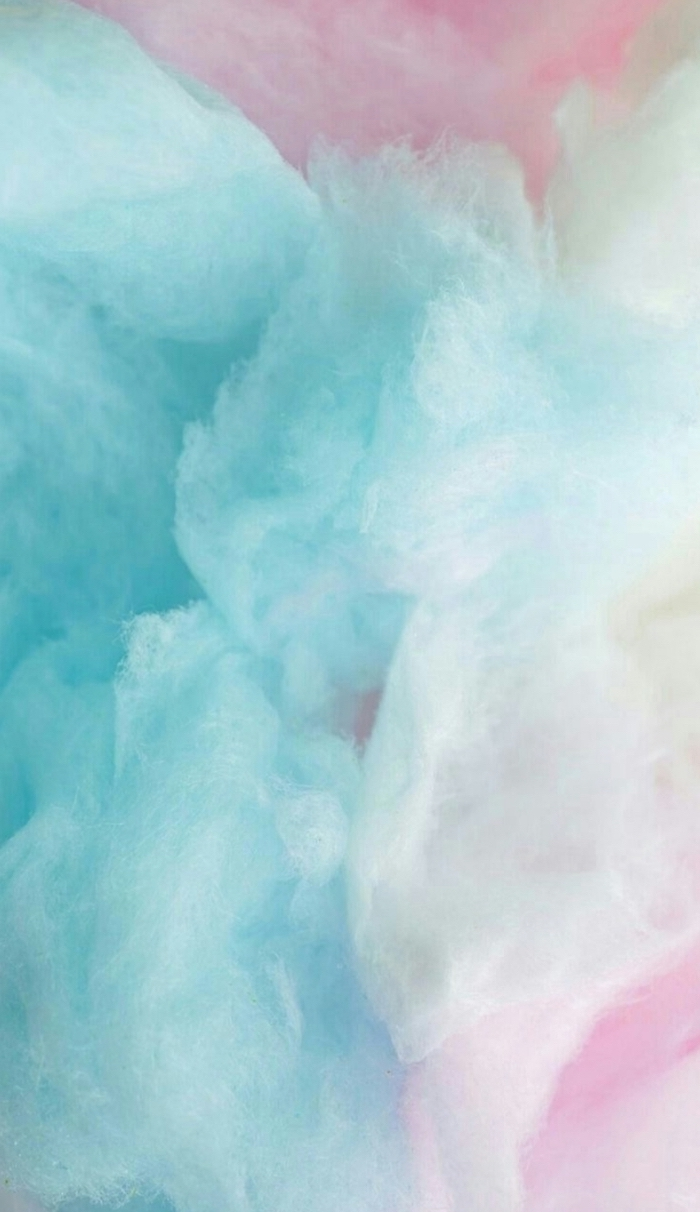 pretty iphone wallpaper close up photo of cotton candy in blue and pink