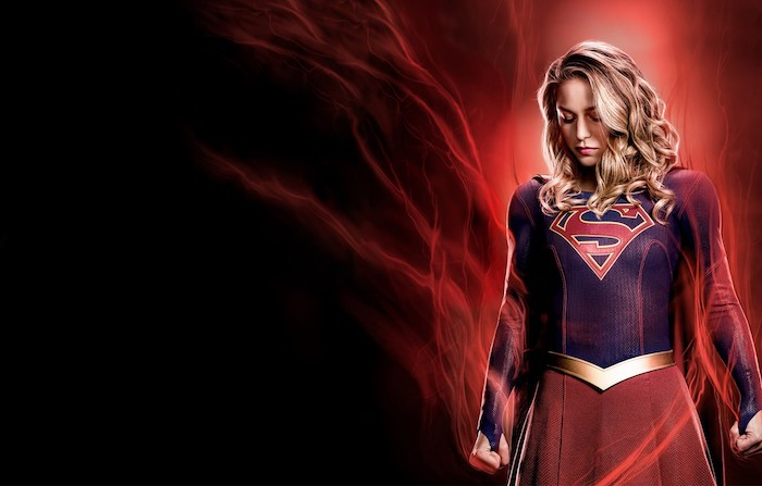 supergirl wallpaper cute wallpapers for girls melissa benoist as supergirl on red and black background