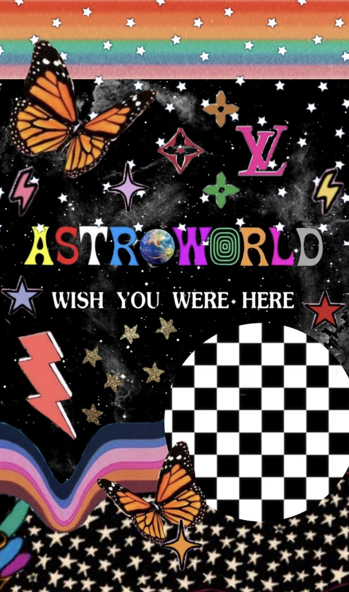 travis scott inspired cool backgrounds for boys astroworld wish you were here written in the middle