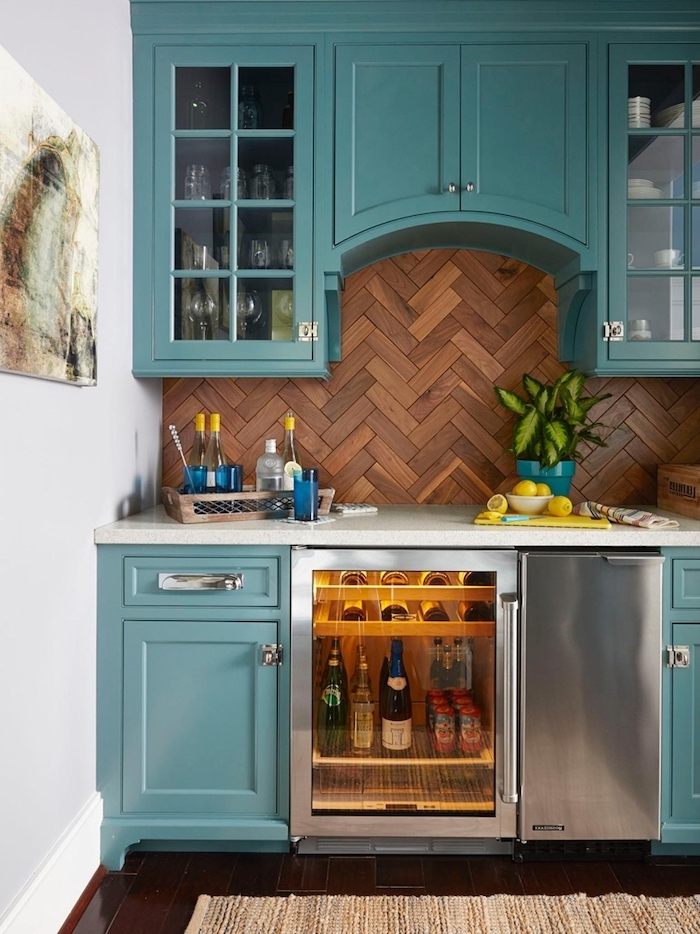 backsplash with wooden tiles backsplash for white cabinets turquoise cabinets with glass doors white countertops