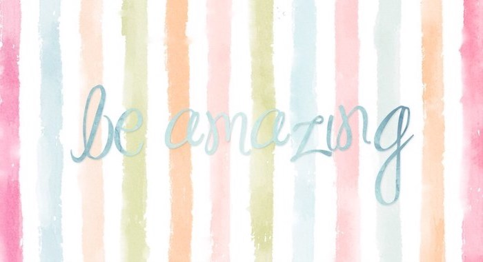 be amazing written with blue letters in cursive font desktop backgrounds for windows 10 brush strokes background in the colors of the rainbow