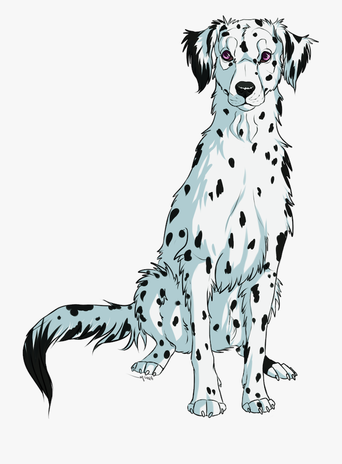 dalmatian digital drawing cute animal drawings easy white dog with black spots drawn on white background