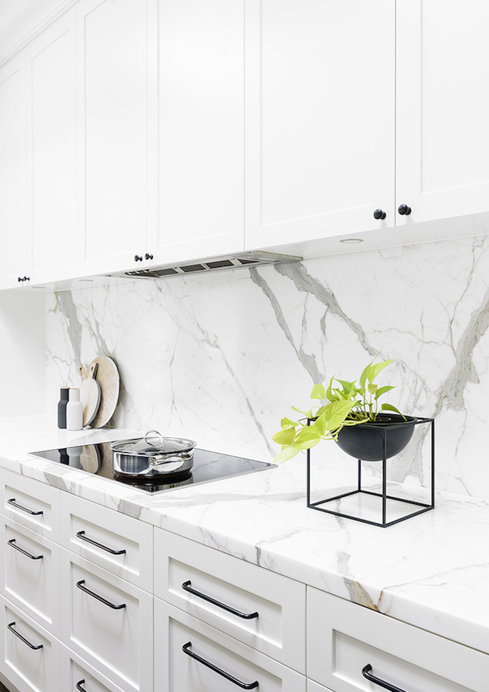 marble backsplash and countertops on white cabinets kitchen backsplash ideas with white cabinets