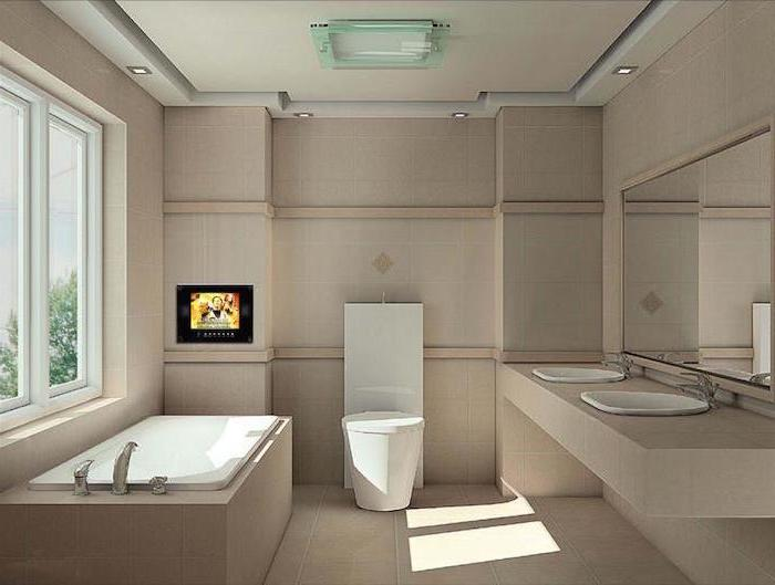 white bathtub with beige tiles small bathroom designs with shower beige tiles on the floor and walls floating cabinet with two sinks