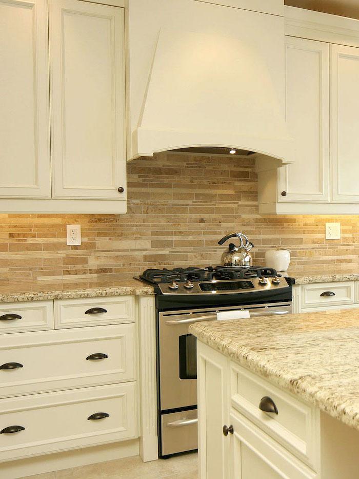 white cabinets with granite countertops kitchen island kitchen tile backsplash ideas tiles in beige for backsplash