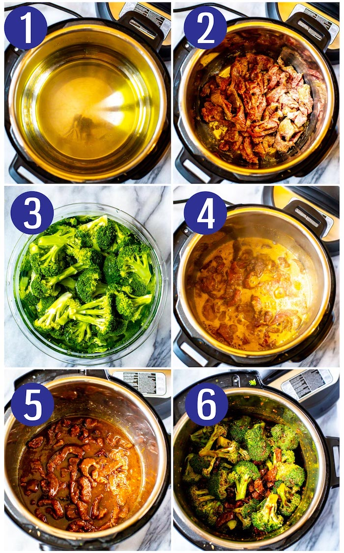 best instapot recipes how to cook beef in instant pot in six steps with broccoli step by step tutorial