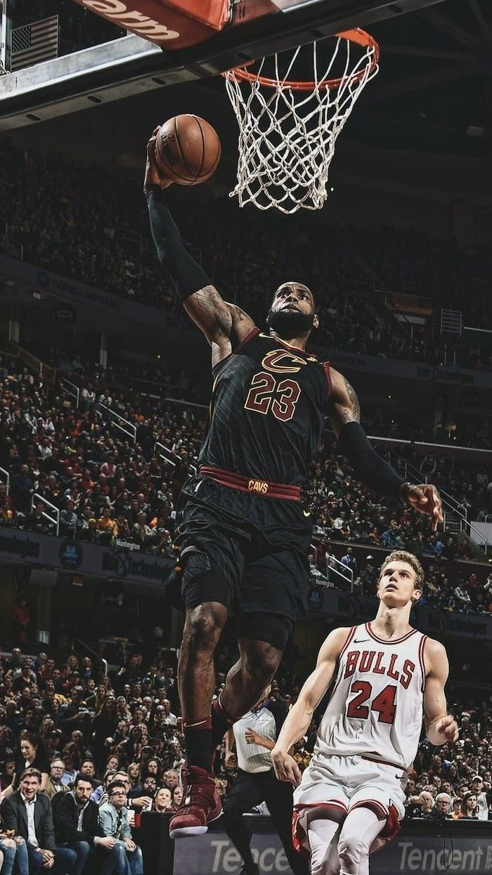 black cleveland cavaliers uniform worn by lebron james cool nba wallpapers jumping in the air about to dunk the ball