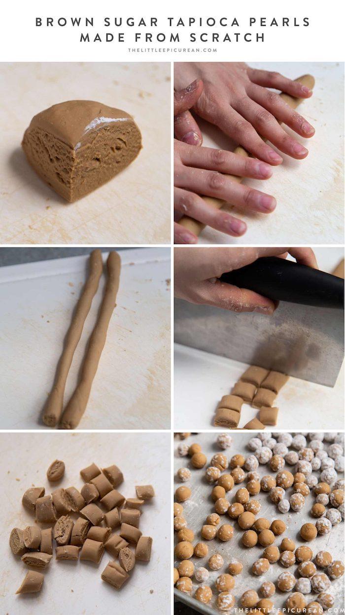 step by step diy tutorial how to make tapioca pearls how to cook tapioca pearls photo collage