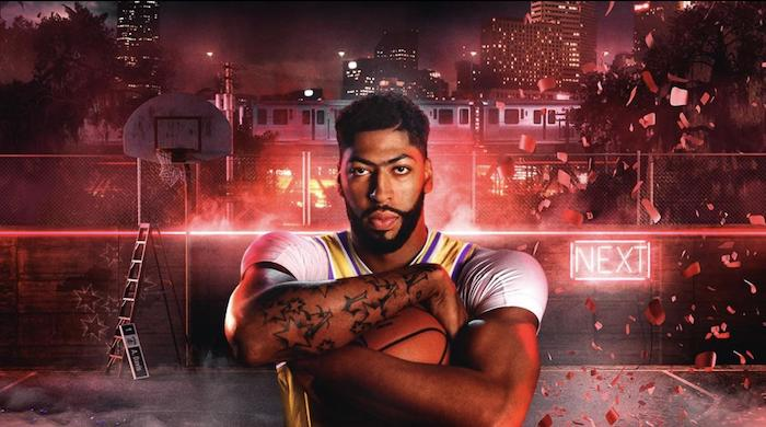 anthony davis holding a basketball standing on street basketball court cool nba wallpapers nba 2k20 poster