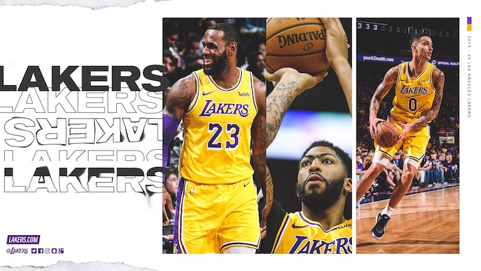 anthony davis lebron james kyle kuzma on the court photo collage cool nba wallpapers white background
