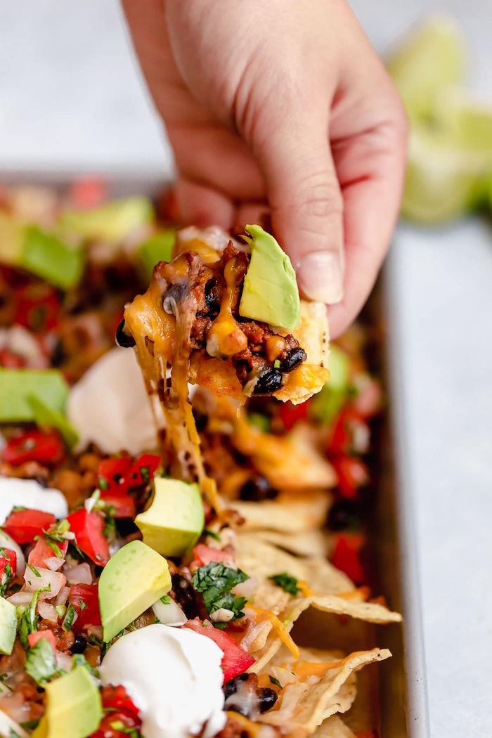 authentic mexican recipes tacos with black beans corn tomato onion chopped parsley and avocado
