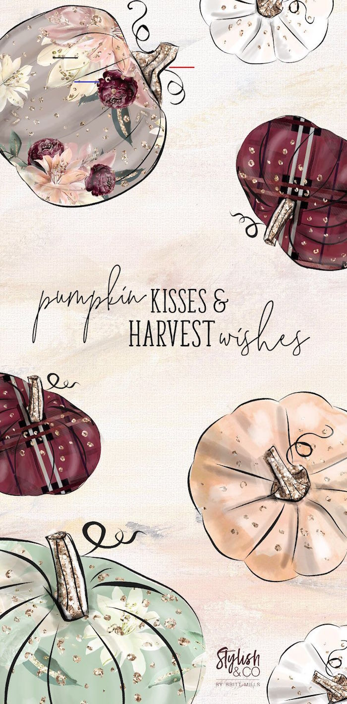 black and purple gray green watercolor drawings of pumpkins thanksgiving desktop backgrounds pumpkin kisses and harvest wishes