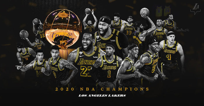 black background with photo collage of los angeles lakers 2020 nba champions cool basketball wallpapers lebron james anthony davis