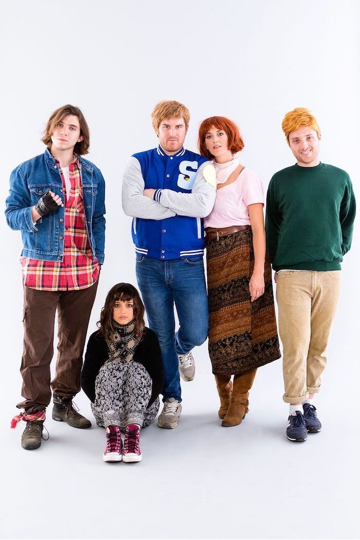 breakfast club characters inspired costumes girl group halloween costumes group of five people