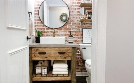Ideas For A Modern Farmhouse Bathroom Decor, Modern Farmhouse Bathroom Wall Decor Ideas