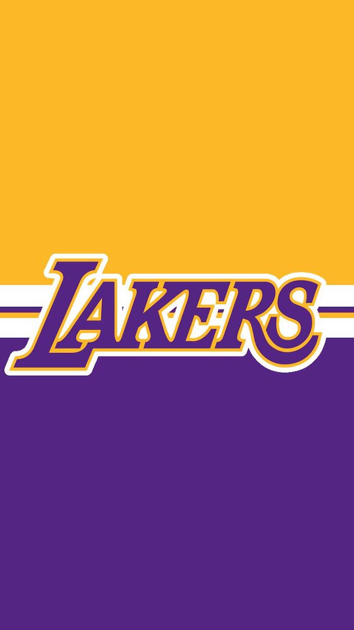 half purple half gold lakers background lakers written in purple in the middle