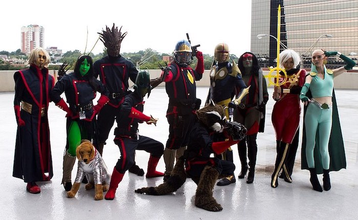 halloween costume ideas for girls ten people dressed as guardians of the galaxy characters cosplay