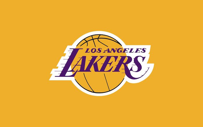lakers logo on yellow background lakers wallpaper los angeles lakers written in purple