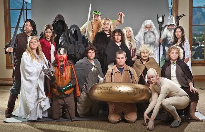 large group of people dressed as characters from the lord of the rings franchise halloween costumes for 3 people
