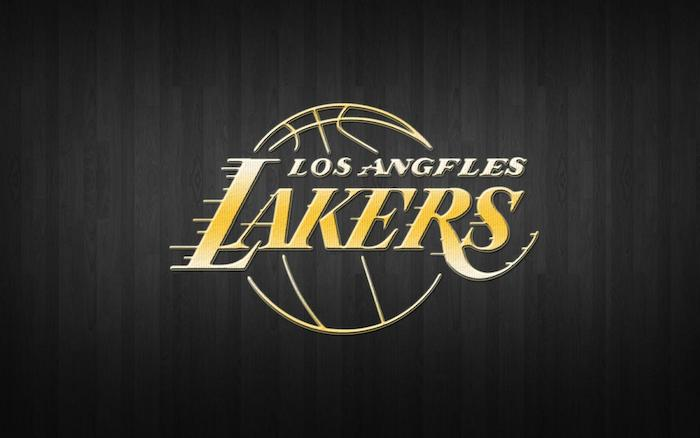 los angeles lakers written in yellow with their logo lakers wallpaper black background