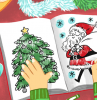 christmas coloring pages for kids drawing of coloring book child coloring on it with crayons hot chocolate next to it