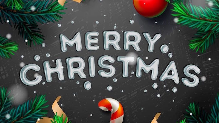 erry christmas written in white on dark gray background christmas background iphone tree branches around it