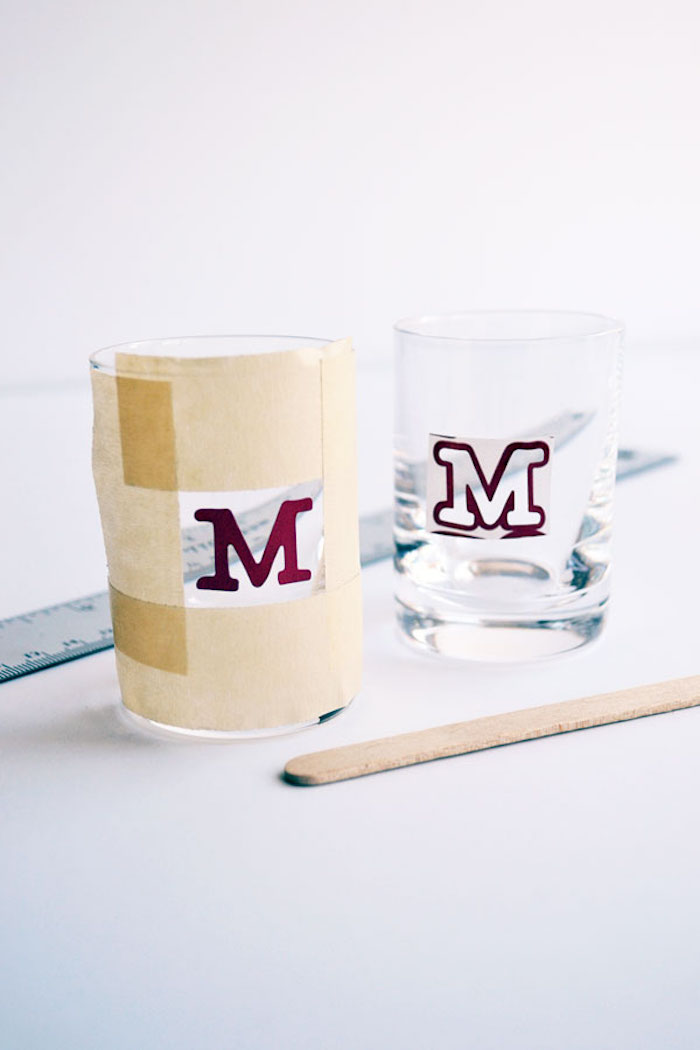 gifts for dad who has everything two shot glasses monogrammed step by step diy tutorial