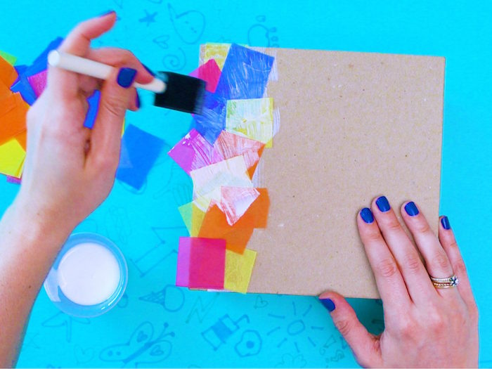 how to make a time capsule art and craft ideas for kids step by step diy tutorial carton box decorated with paper confetti