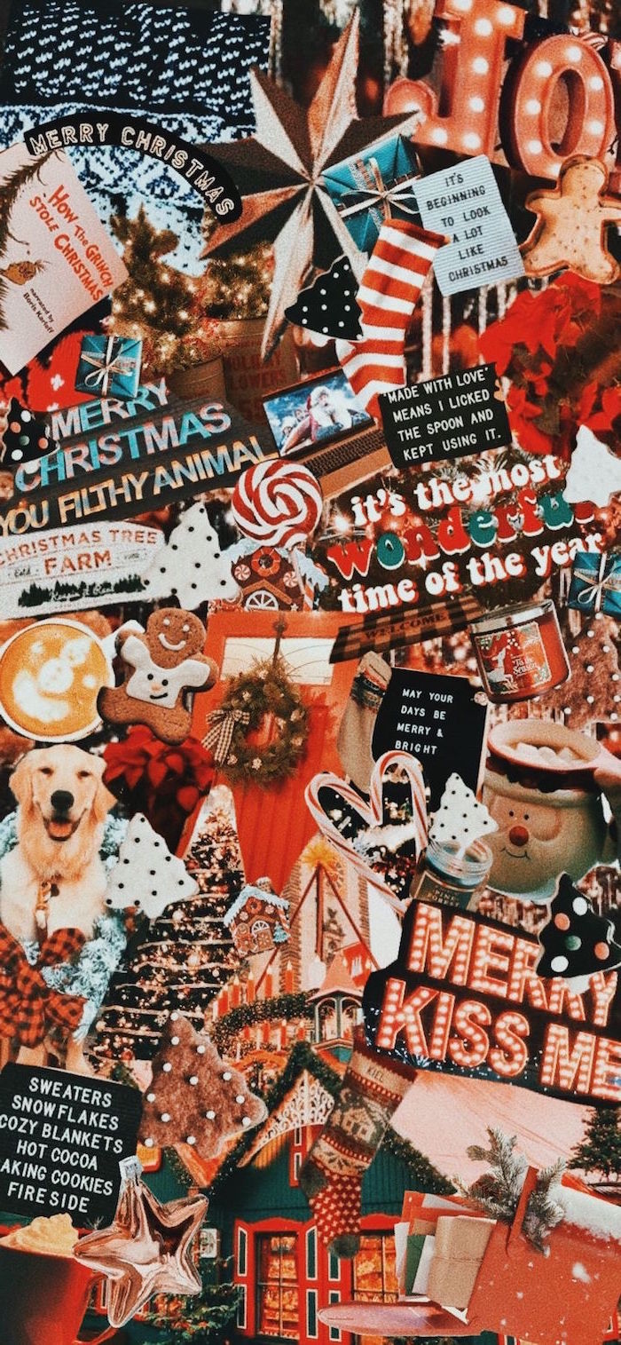 merry christmas photo collage christmas wallpaper tumblr different photos showing christmas decorations