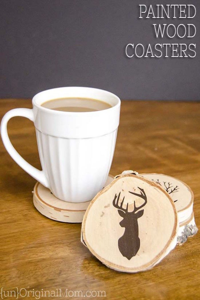 what to get dad for christmas wood coasters with different drawings on them step by step diy tutorial