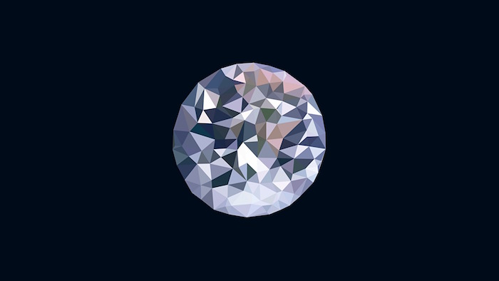 black background mminimalist desktop wallpaper digital drawing of round diamond in the middle in different colors