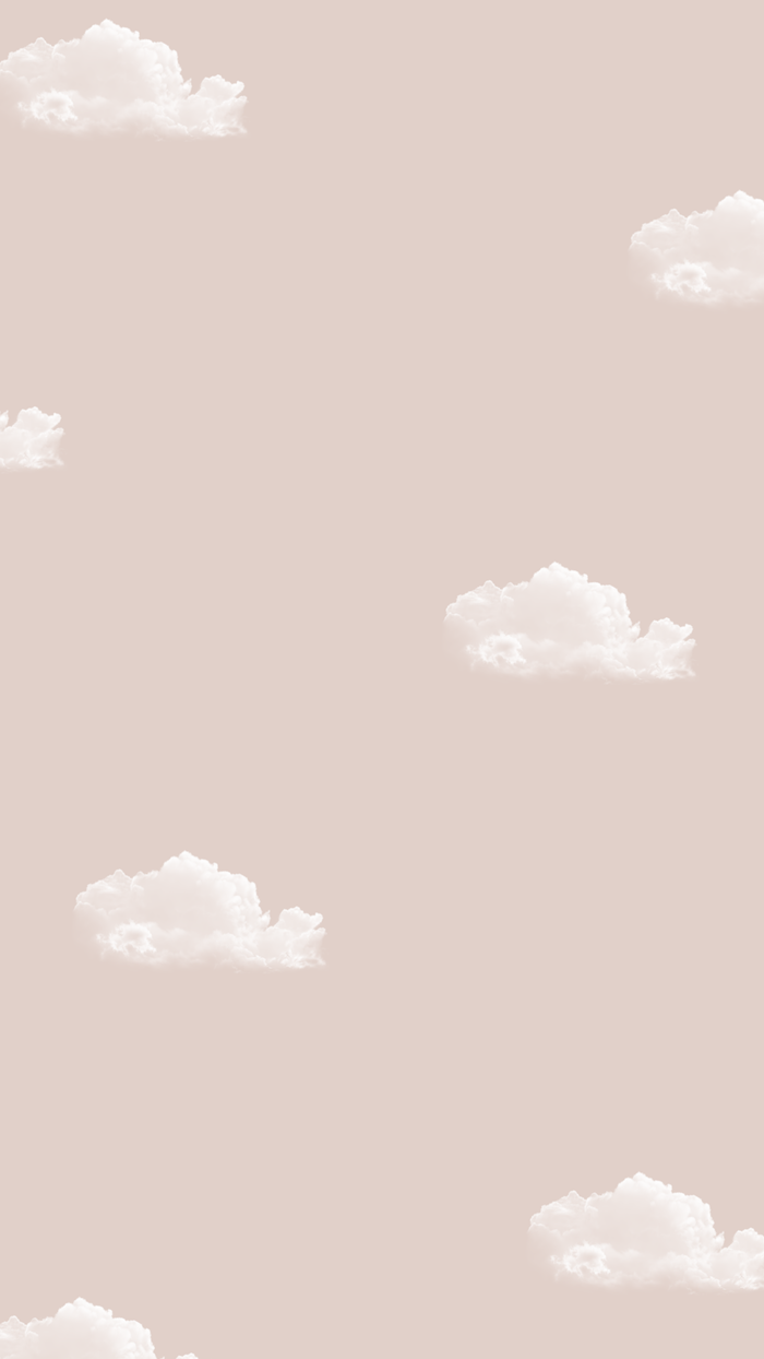 drawing of small white clouds in the same shape on pink background simple phone backgrounds