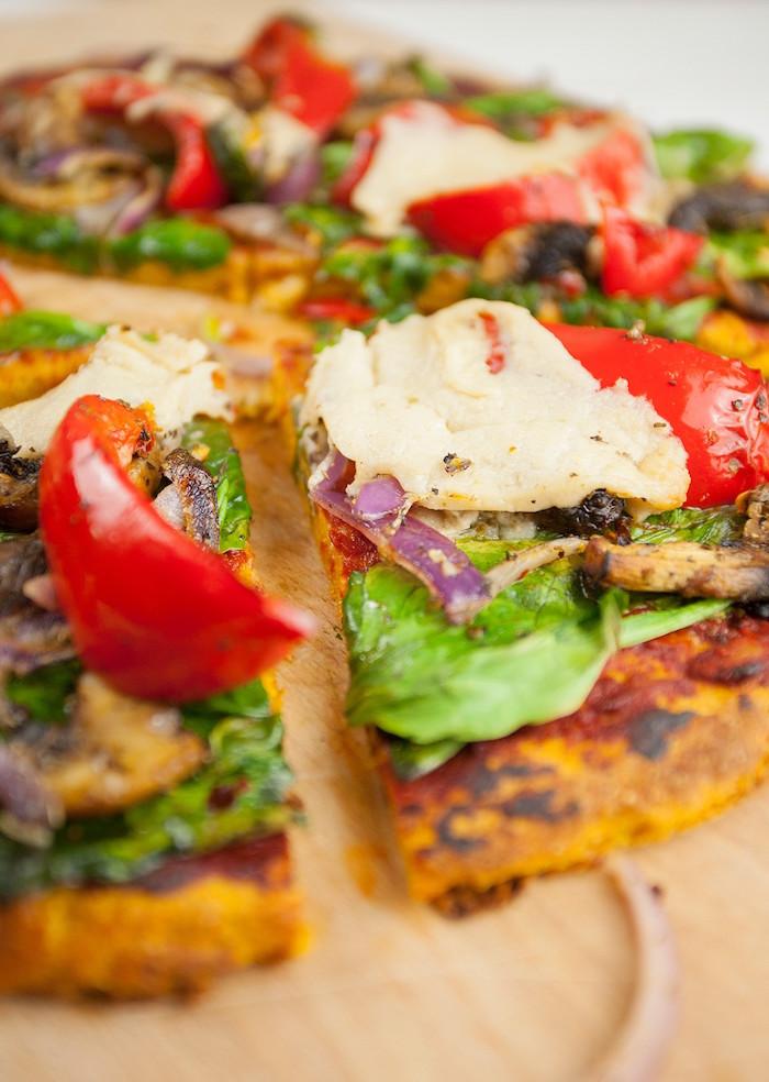 homemade pizza dough recipe sweet potato crust with tomato basil onion cut into slices