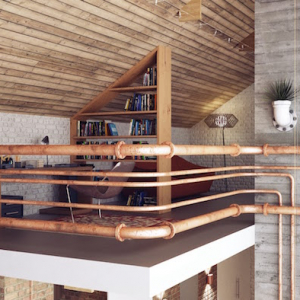 How to Use Industrial Pipes at Home for a Modern Interior