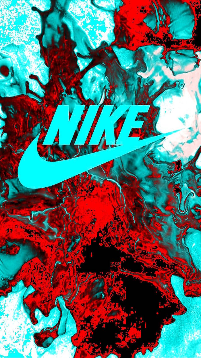 blue nike logo in the middle galaxy nike wallpaper red blue and white gradient background