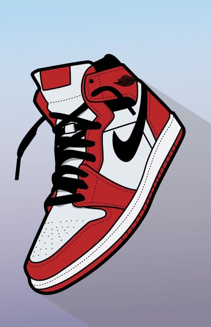 drawing of black red and white nike air jordan sneaker galaxy nike wallpaper blue and purple background