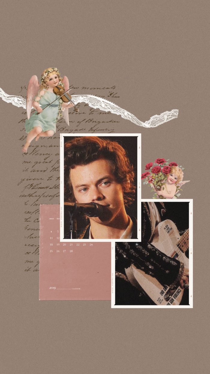 harry styles wallpaper purple background photo collage of two photos singing playing guitar