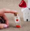 i love you mini note placed inside small glass bottle valentines day ideas for him message in a bottle