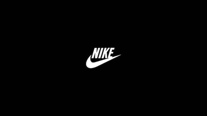 minimalistic background with white nike logo nike background drawn on black background