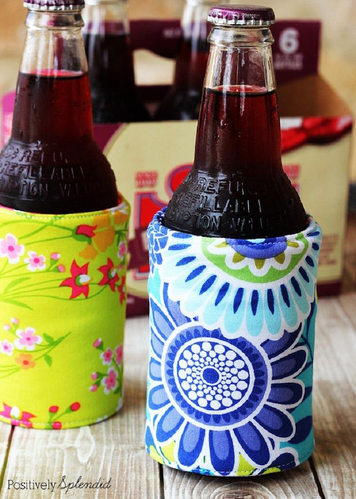step by step diy tutorial for beverage holder made from felt and fabric what to get a guy for valentines day