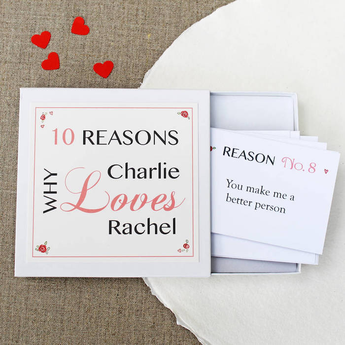 ten reasons why charlie loves rachel valentines day ideas for him diy box with personalised messages inside