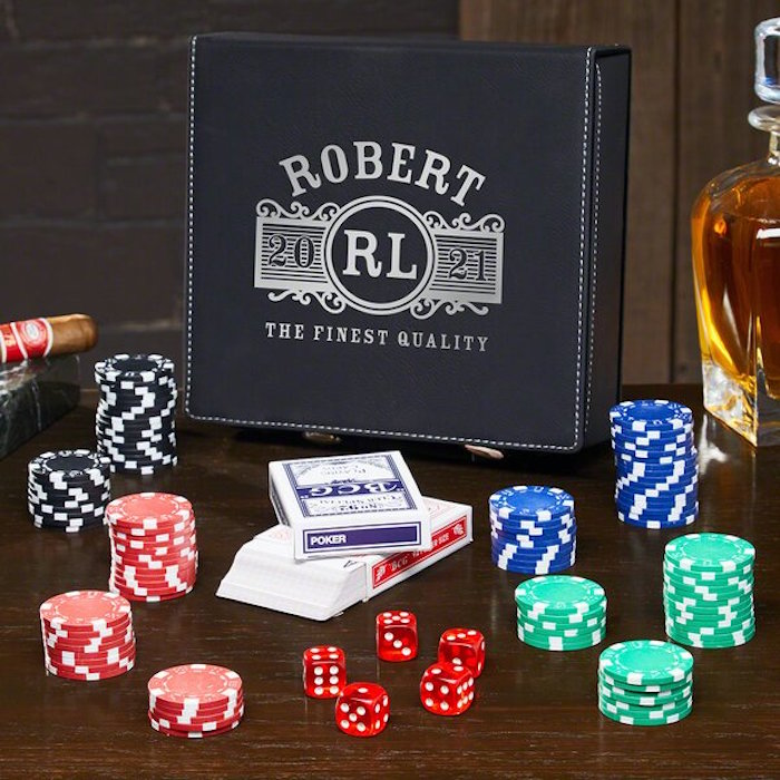 what to get a guy for valentines day robert personalised poker set inside case made from black leather