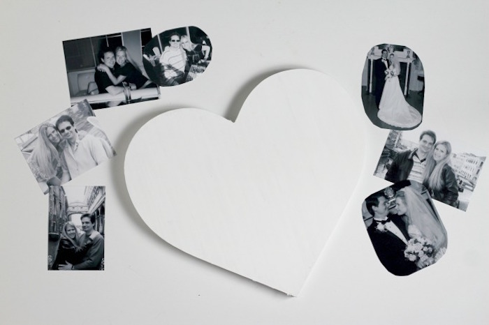 white heart black and white photos scattered around it cute things to get your boyfriend for valentines day