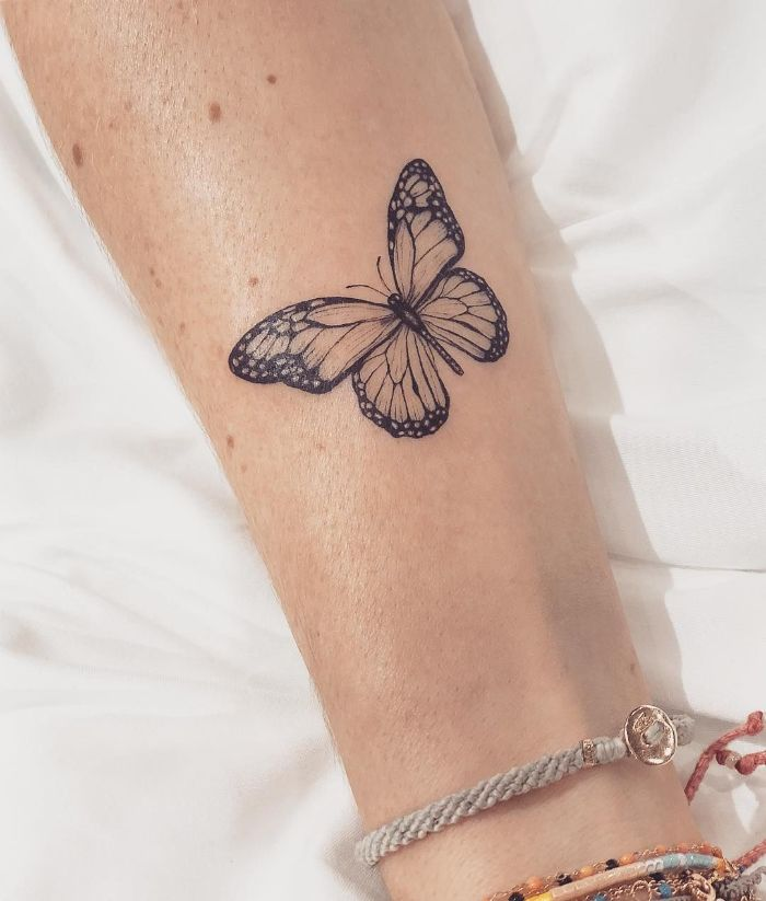 black and white butterfly small butterfly tattoo designs forearm tattoo