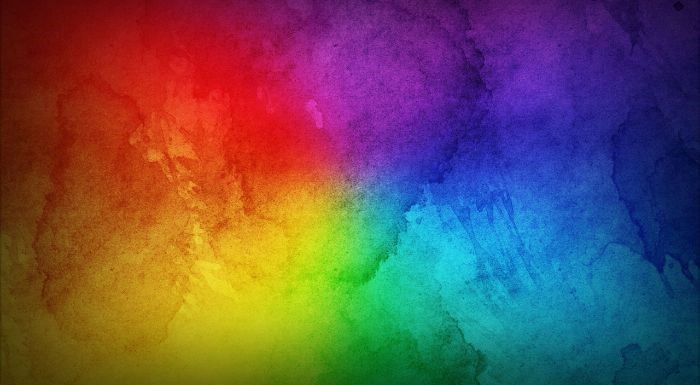 blue purple green orange and red watercolor gradients rainbow wallpaper mixed together