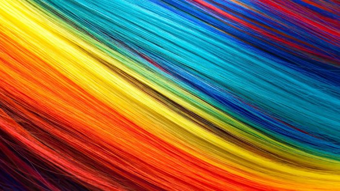 blue yellow orange red hair cute rainbow wallpaper close up photo of rainbow hair