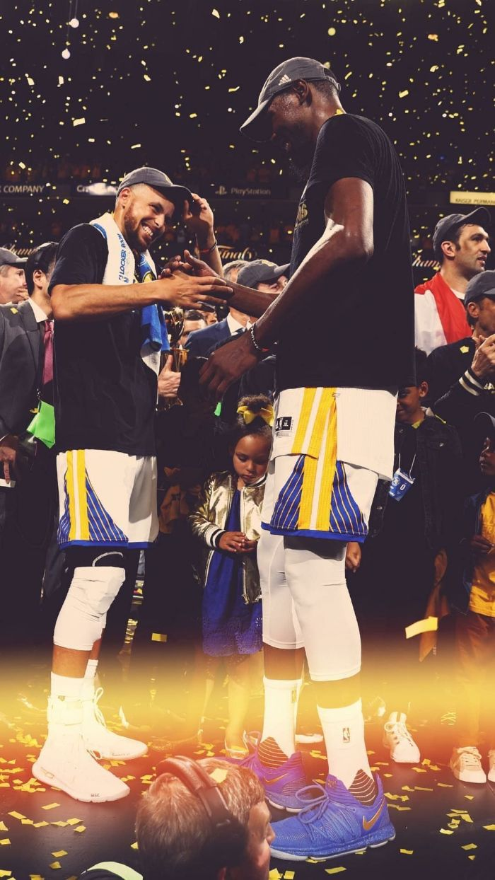 championship celebration basketball pictures wallpaper stephen curry kevin durant on the court